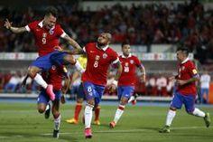 La selección chilena enfrentará la próxima fecha eliminatoria como el quinto combinado nacional del planeta. Argentina es segunda y Venezuela 75. March 03, 2016.