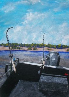 Gone Fishin' ORIGINAL DIGITAL DOWNLOAD by Mike by MikeKrausArt