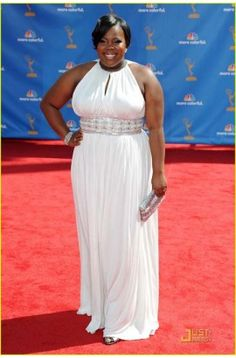 Amber Riley White Plus Size Prom Dress Formal Gown 62nd Primetime Emmy Awards - TheCelebrityDresses