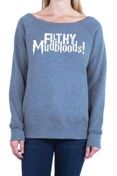 Filthy Mudbloods - Women's Sponge Fleece Wide Neck Sweatshirt
