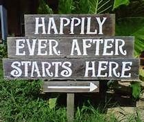 outdoor wedding ideas on a budget - Bing Images... Signs like this would be adorbs with disney princess sayings such as :A whole new world, or tale as old as time!