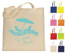 Wedding Totes Beach Wedding Favors Florida Welcome by SipHipHooray