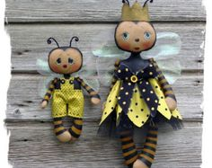 CF271 Queenie Bee & Lil' Bumbles PDF ePattern by CatAndTheFiddle