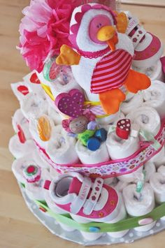 Modern Diaper Cake - Fácil y Sencillo