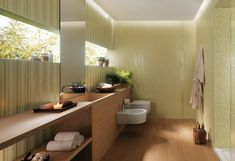 Cream white modern bathroom