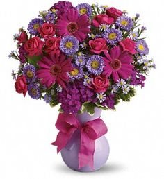 """Get Well Soon Flowers Get Well Flowers Nothing says """"Get Well Soon"""" like a vibrant bouquet of fresh flowers! Look no further for get well gifts than us. We deliver get well flowers to Houston, TX or nationwide to brighten their day! Sunflowers And Daisies, All Flowers, Purple Flowers, Beautiful Flowers, Flowers Online, Fresh Flowers, Bouquet Flowers, Happy Birthday Bouquet"""