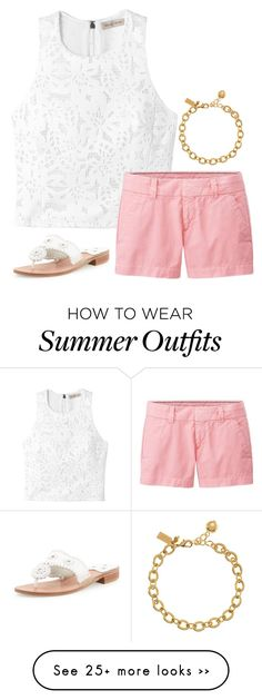 """spring/summer outfit"" by sassy-and-southern on Polyvore featuring moda, Rebecca Taylor, Uniqlo, Kate Spade y Jack Rogers"