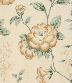 Pretty floral fabric made from 100% cotton. Ideal for curtains and blinds. Why not take advantage of our made to measure service and have your curtains and blinds made and handfinished by our skilled workroom team. Our online store and shops in Burford, near Oxford and Cheltenham have huge stocks of discount curtain and upholstery fabrics.
