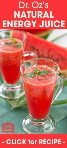 Dr. Oz loves healthy, natural foods, and juicing is an extremely popular health trend. That's why he shared a recipe for a delicious and simple red juice that's not only eye-catching, but also delicious!