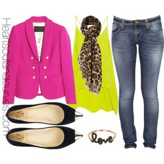 Neon Colors For Fall, created by adoremycurves on Polyvore