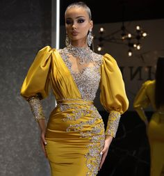 Elegant Dresses, Cute Dresses, Beautiful Dresses, African Lace Dresses, African Fashion Dresses, Prom Dresses With Sleeves, Prom Dresses Blue, Banquet Dresses, African Traditional Dresses
