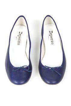 Blue Ballet Flats.