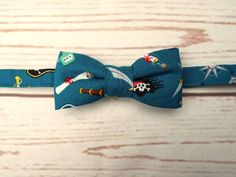 **Ready to post**  Baby size pirate print pre tied bow tie 100% quality designer…