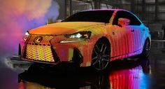 Lexus enthüllt 2017 in fast 42.000 LEDs Wrapped Lexus Lexus IS Lexus Videos Tech Video