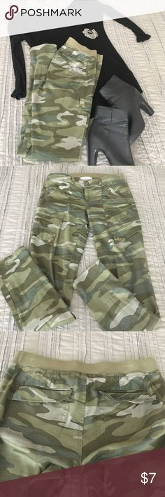 Army print pants Has elastic waist so I wore in early pregnancy but would also be really comfy for anyone not preggo as they are not actually maternity pants. rewind Pants Skinny