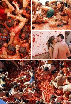 Participate in world's biggest food fight at La Tomatina Festival in Bunol, Spain