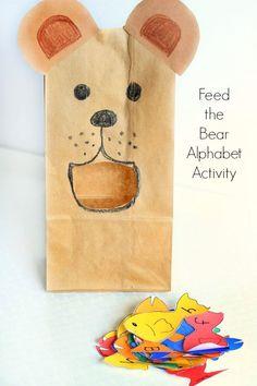 A bear theme alphabet activity for preschool letter learning!