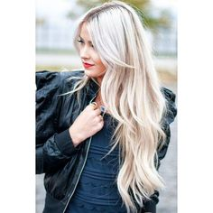 16 Beautiful Hairstyles With Bangs and Layers ❤ liked on Polyvore featuring accessories, hair accessories, hair and blonde