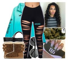 """""""while i be banging on your body, they be be banging on our wall"""" by lamamig ❤ liked on Polyvore featuring Smythson and UGG Australia"""