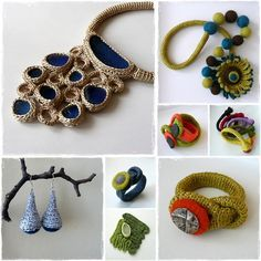 Astash on craft-recipes.comhas created these lovely little crocheted treasures. Im always blown away by how creative some people are!