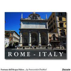 Fontana dell'Acqua Felice Scene, Rome, Italy Postcard