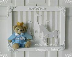 Quadro Maternidade - Urso Príncipe