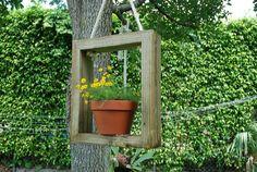 Creativity Run Amok!: Reclaimed Wood Plant Hanger