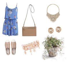 """""""Dressy Picnic Day"""" by hannahfleg ❤ liked on Polyvore featuring MINKPINK, FitFlop, Bebe, Michael Kors and Henri Bendel"""