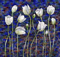 white tulips.mosaic   made by ???? As a Dutch I love tulips!