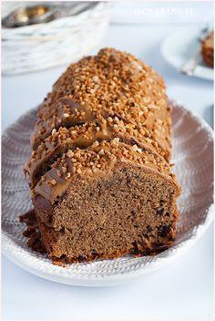 Babka kawowa z polewą krówkową #coffee #cake #pound