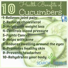 10 Health Benefits Of Cucumbers