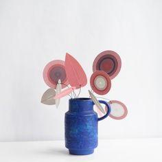 Vintage Keramikvase blau