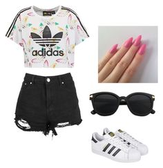 """""""Untitled #7"""" by stepha9763 on Polyvore featuring adidas Originals and adidas"""