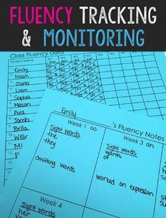 FREE Fluency tracking and monitoring. I have a few ways in which you can make it more manageable in your classroom. I have shared a few ways in which you can use these materials!
