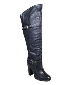 Black Motive Over-the-Knee Boot #zulily #zulilyfinds