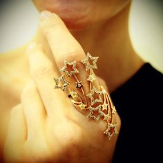 """""""Fourth of July"""" 18K Rose Gold Champagne Diamond Ring, $2,900"""
