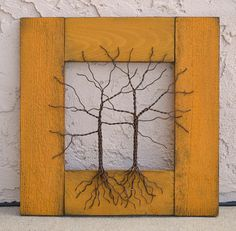 Original Wire Tree Abstract Sculpture Painting by Amy Giacomelli, $85.00