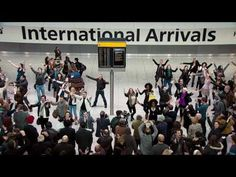 How British People Greet You At The Airport. BEST FLASH MOB EVER!