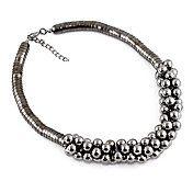 Negro bolas ancho collar – USD $ 4.99