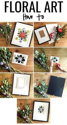 DIY Floral Art