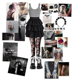 """Hey There Mr. Brooks-Asking Alexandria"" by hold-on-till-may-lca ❤ liked on Polyvore featuring Dr. Martens, Topshop, NOVICA and Nails Inc."