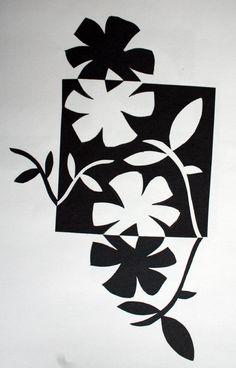 negative and positive space art Art Positif, Programme D'art, Club D'art, Notan Art, Notan Design, Negative Space Art, Art Floral, Classe D'art, 7th Grade Art