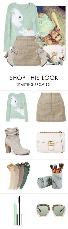 """""""pastel"""" by missz ❤ liked on Polyvore featuring H&M, TIBI, Chinese Laundry, Gucci and Clinique"""