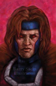 Gambit XMEN Art Print 11x17 by BarrySachsBarryGood on Etsy, $20.00