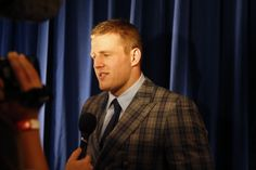 J.J. Watt, of the Houston Texans, winner of the AP defensive player of the year award, backstage at the 4th annual NFL Honors at the Phoenix Convention Center Symphony Hall on Saturday, Jan. 1, 2015. (Photo by Colin Young-Wolff/Invision for NFL/AP Images)