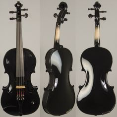 Barcus Berry Vibrato AE Violin, Piano Black