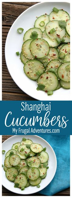 Quick and easy PF Changs Copycat Shanghai Cucumbers.  So quick and easy and absolutely delicious.