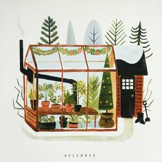 Calendar Greenhouses by Quillandfox. Seen on HappyMakersBlog.com