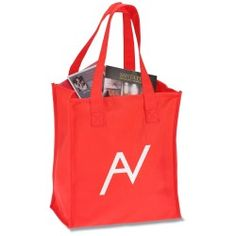 Wherever they go, this imprinted tote goes with them!