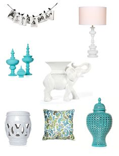 looks like my elephant plant stand!!! But in white GLOSS --- fabulous finds from Z Gallerie